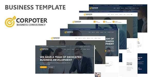 Corpoter - Consulting & Business HTML Template - Business Corporate