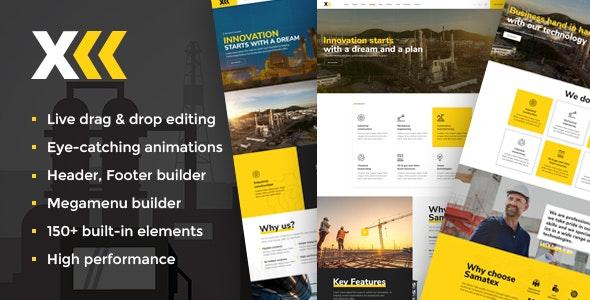 Samatex - Industrial WordPress Theme + Woocommerce - Business Corporate