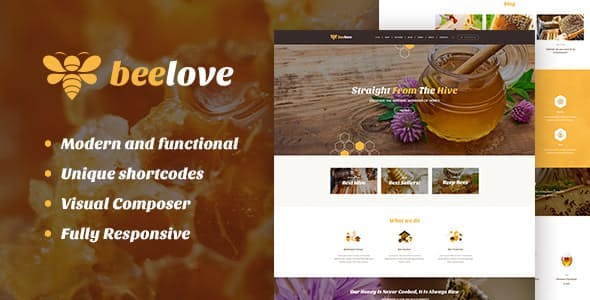 Beelove | Honey Production and Sweets Online Store WordPress Theme