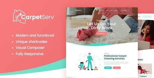 CarpetServ | Cleaning Company & Janitorial Services WordPress Theme - Miscellaneous WordPress