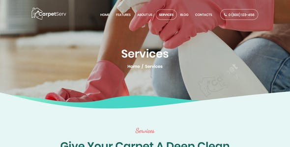 CarpetServ | Cleaning Company, Housekeeping & Janitorial Services WordPress Theme