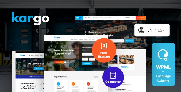 Kargo | Logistics & Transportation WordPress Theme - Business Corporate