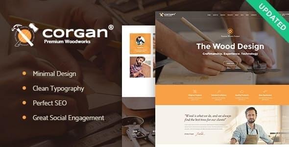 Corgan   Woodworks and Carpentry WordPress Theme