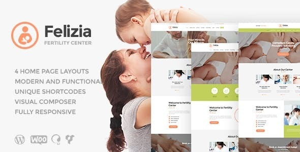 Felizia | Fertility Center & Medical WordPress Theme - Health & Beauty Retail