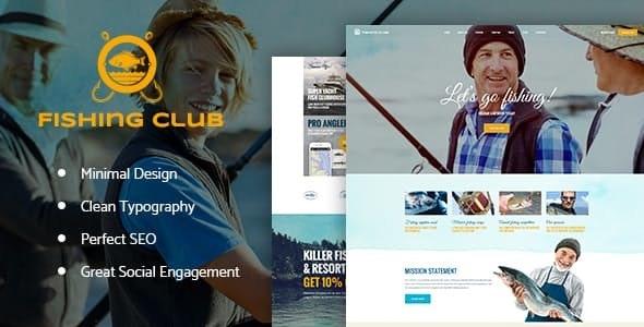 Fishing and Hunting Club WordPress Theme - Travel Retail