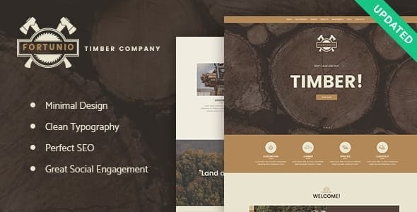 Fortunio - Timber / Forestry / Wood Manufacture WordPress Theme - Business Corporate
