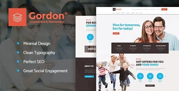 Gordon | Investments & Insurance Company WordPress Theme - Business Corporate