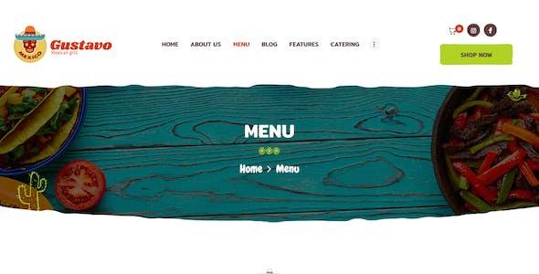 Gustavo | Mexican Grill, Bar & Restaurant WordPress Theme