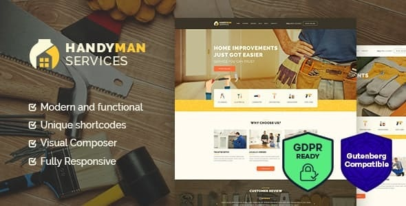 Handyman | Construction and Repair Services Building WordPress Theme - Business Corporate