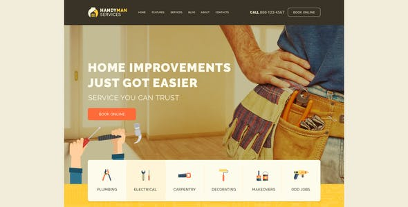 Handyman | Construction and Repair Services Building WordPress Theme