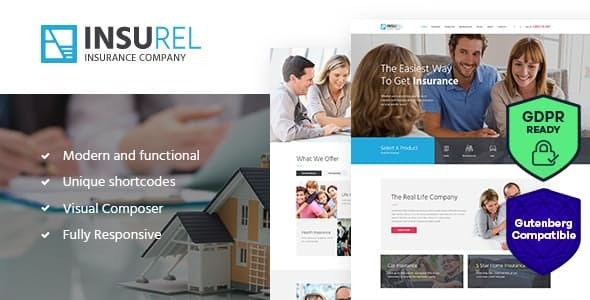InsuRel | Insurance & Finance WordPress Theme - Business Corporate