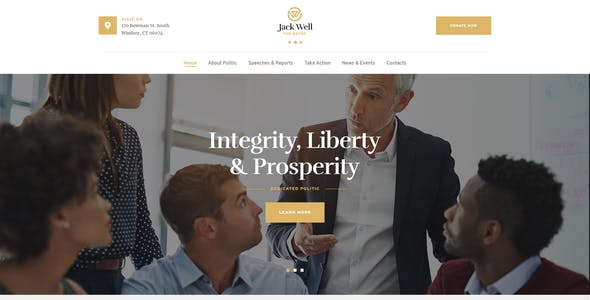 Jack Well   Elections Campaign & Political WordPress Theme