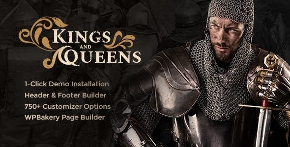 Kings & Queens | Historical War Medieval Reenactment WordPress Theme - Entertainment WordPress