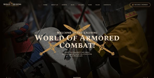 Kings & Queens | Historical War Medieval Reenactment WordPress Theme