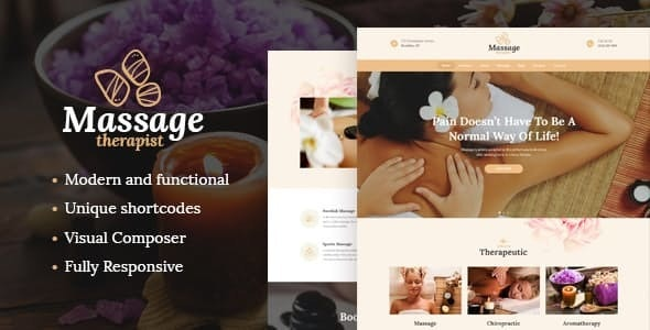 Massage Therapist and Spa Salon WordPress Theme - Health & Beauty Retail