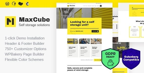 MaxCube | Moving & Self Storage Relocation Business WordPress Theme - Business Corporate