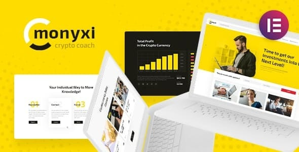 Monyxi | Cryptocurrency Trading Business Coach WordPress Theme - Business Corporate