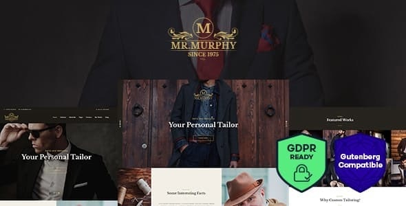 Mr. Murphy - Custom Dress Tailoring Clothing WordPress Theme - Fashion Retail