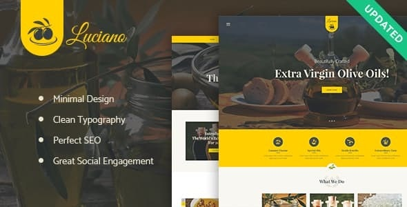 Olive Oil Farm and Vinegars Production WordPress Theme - Food Retail