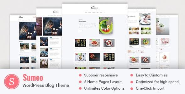 Sumeo - Blog WordPress Themes - Blog / Magazine WordPress