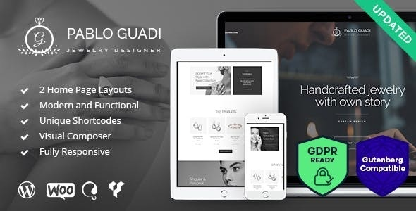 Pablo Guadi - Precious Stones Designer & Handcrafted Jewelry Online Shop WordPress Theme - Shopping Retail