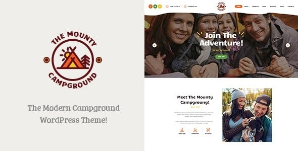 The Mounty   Campground & Camping WordPress Theme
