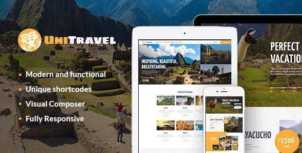 UniTravel | Travel Agency & Tourism Bureau WordPress Theme - Travel Retail