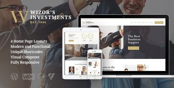 Wizor's | Investments & Business Consulting Insurance WordPress Theme - Business Corporate