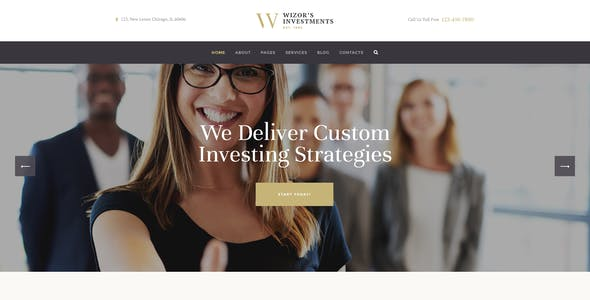 Wizor's | Investments & Business Consulting Insurance WordPress Theme