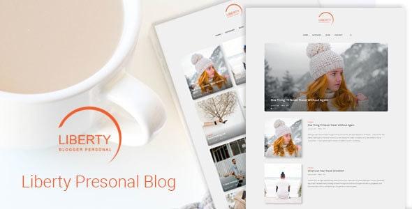 Liberty - A Clean Personal WordPress Blog Theme - Personal Blog / Magazine