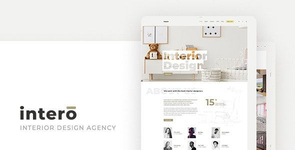 Intero – Interior Design Agency PSD Template - Portfolio Creative