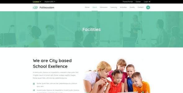 Pallikoodam - School, Kids Education PSD