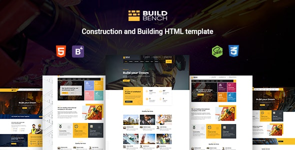 Buildbench - Construction, Building HTML Template - Business Corporate