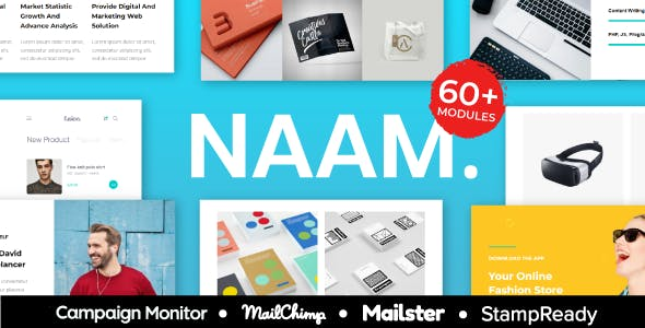 NAAM - Multipurpose Responsive Agency Email Template With StampReady Builder