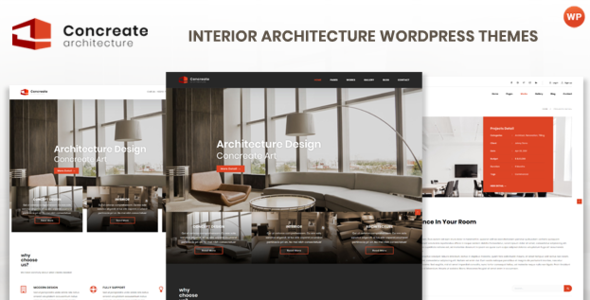 Concreate - Interior Architecture Interactive WordPress Theme - Business Corporate