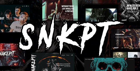Snakepit - A Rock and Metal Oriented Music WordPress Theme