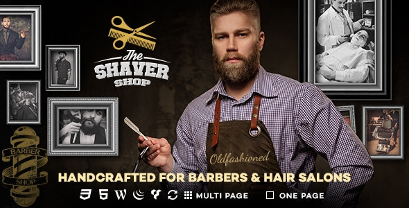 Shaver - Barbers & Hair Salon WordPress Theme - Health & Beauty Retail