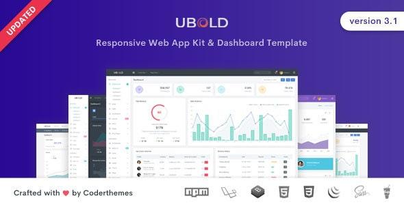 Ubold - Responsive Admin Dashboard & Web UI Kit Template - Admin Templates Site Templates