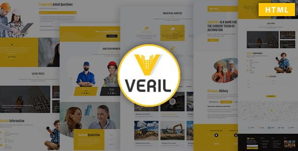 Veril - Construction and Industrial HTML Template - Business Corporate