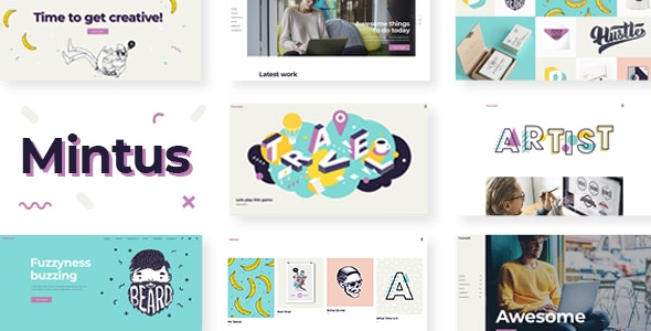 Mintus - Illustration Portfolio Theme - Portfolio Creative