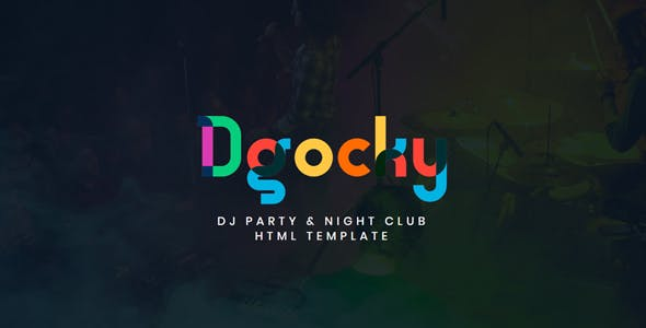 Dgocky – DJ Party & Night Club HTML Template by rifat636
