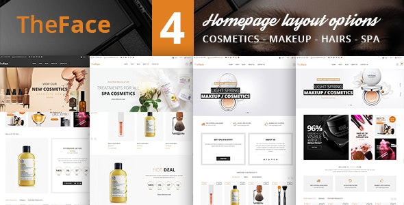 Beauty Cosmetics Store HTML Template - TheFace - Health & Beauty Retail