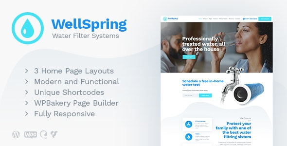 WellSpring | Aqua Filters & Drinking Water Delivery WordPress Theme - Business Corporate