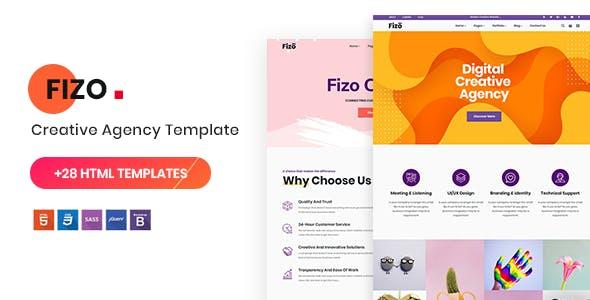 Fizo - Creative MultiPurpose HTML5 Template