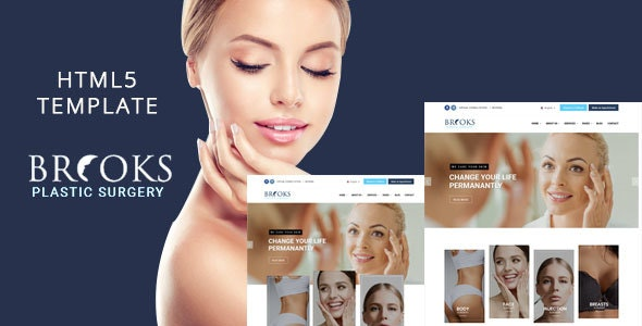 Brooks - Plastic Surgery Clinic HTML Template - Site Templates