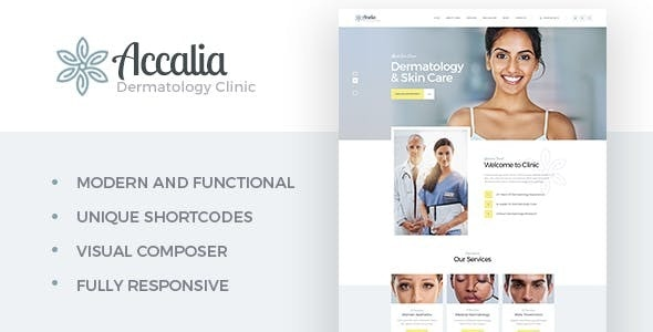 Accalia | Dermatology Clinic & Cosmetology Center Medical WordPress Theme - Health & Beauty Retail