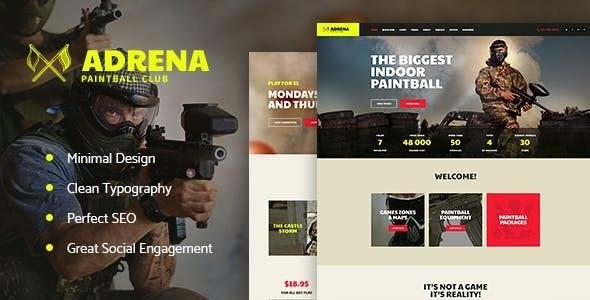 Adrena   Airsoft Club & Paintball WordPress Theme
