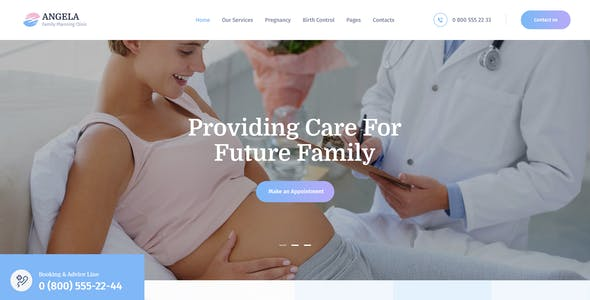 Angela   Family Planning & Pregnancy Clinic WordPress Theme