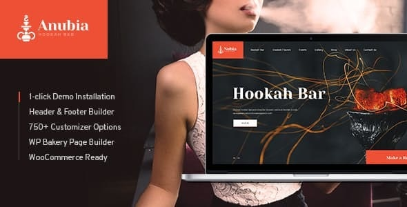 Anubia | Smoking and Hookah Bar WordPress Theme - Restaurants & Cafes Entertainment