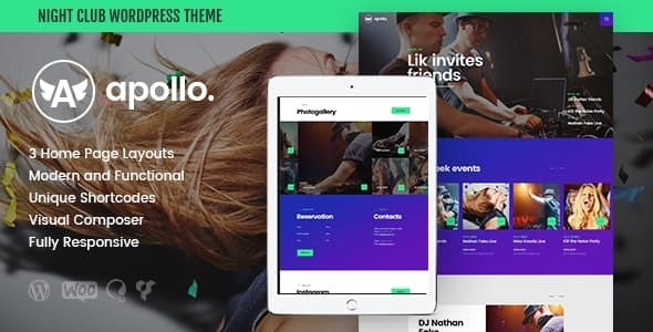 Apollo | Night Club, DJ Concert & Music Event WordPress Theme - Nightlife Entertainment